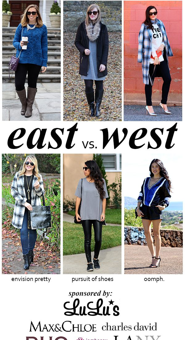 East vs. West Style: Holiday Shopping