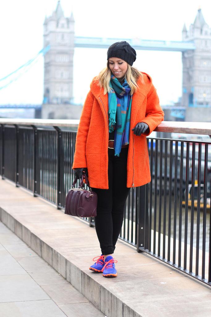 Neon Sneakers at The Tower Bridge