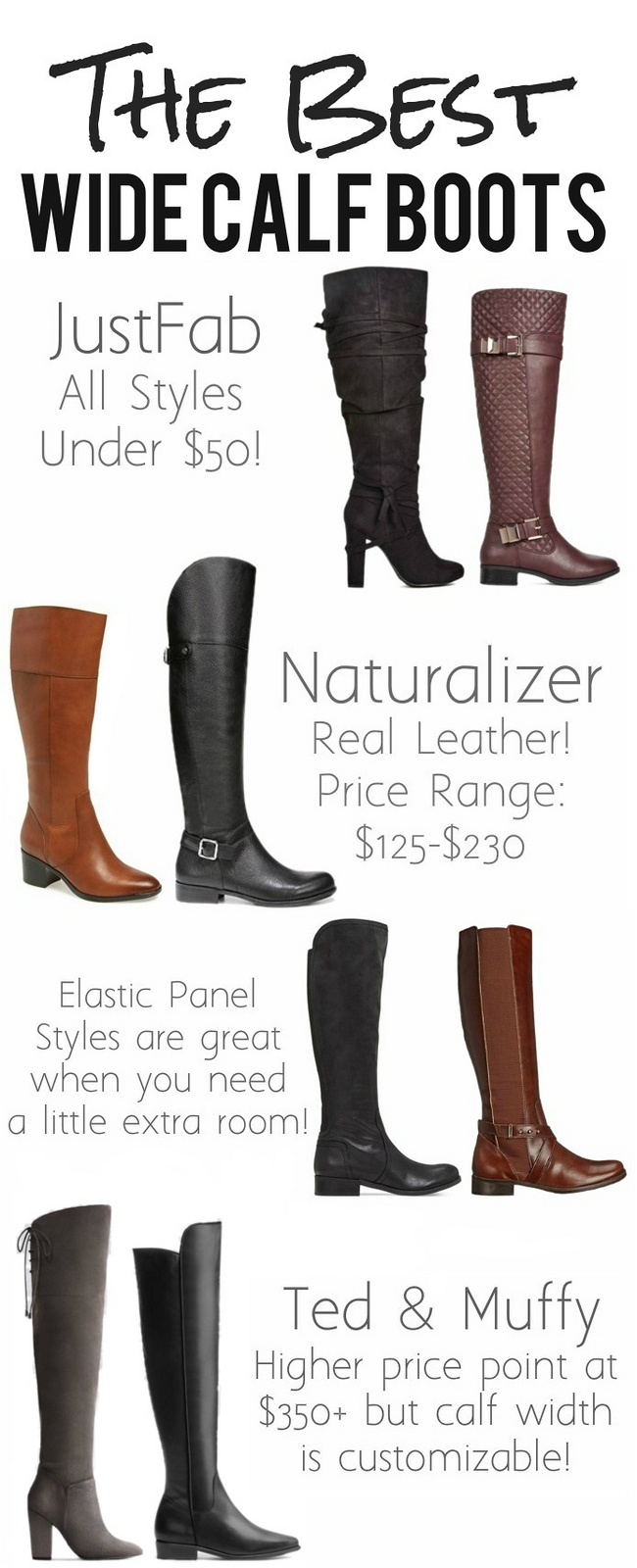 The Best Wide Calf Boots - living after