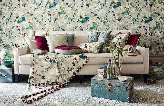 Bold Floral Home Decor Inspiration