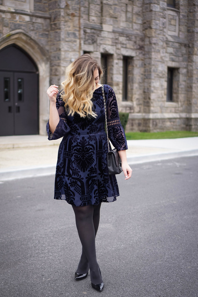 The Blue Velvet Dress