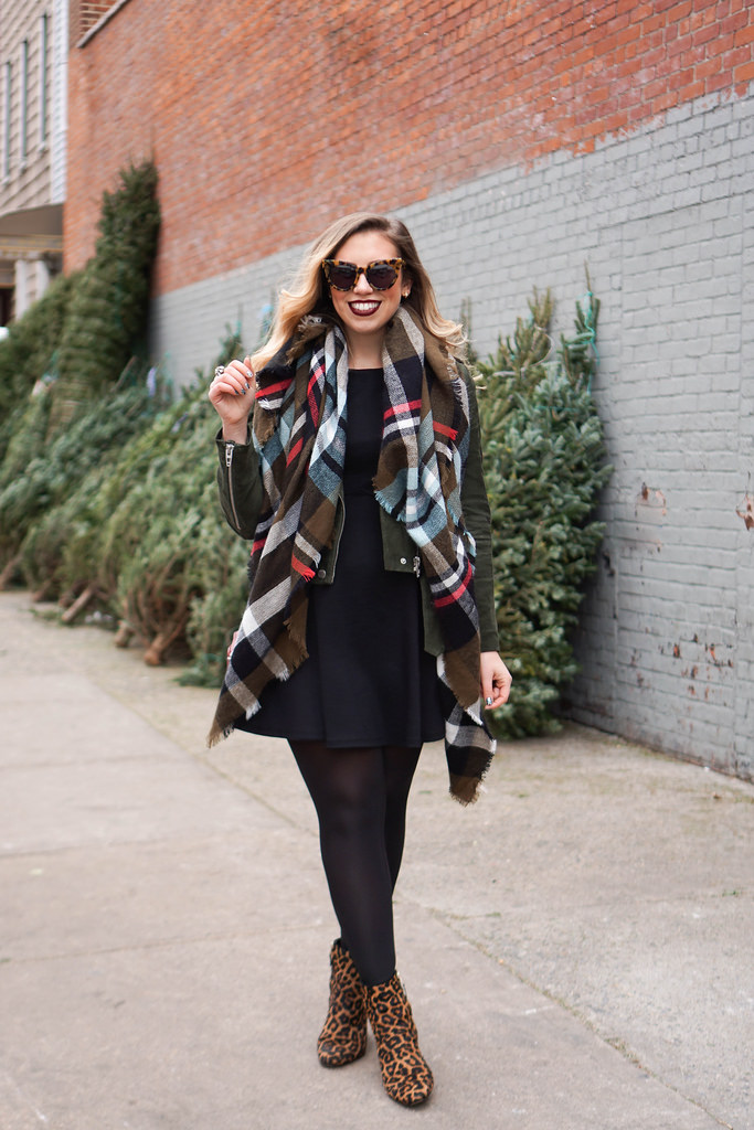 Christmas Plaid and Leopard