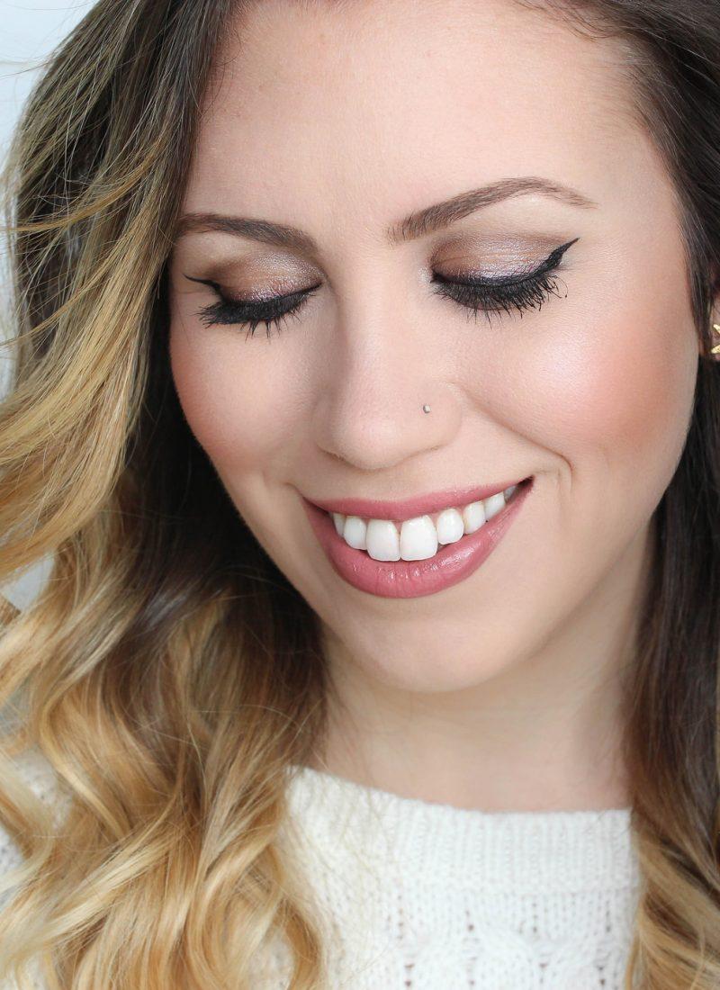 maybelline big shot mascara 24k nudes eyeshadow makeup masterprecise eyeliner natural tutorial