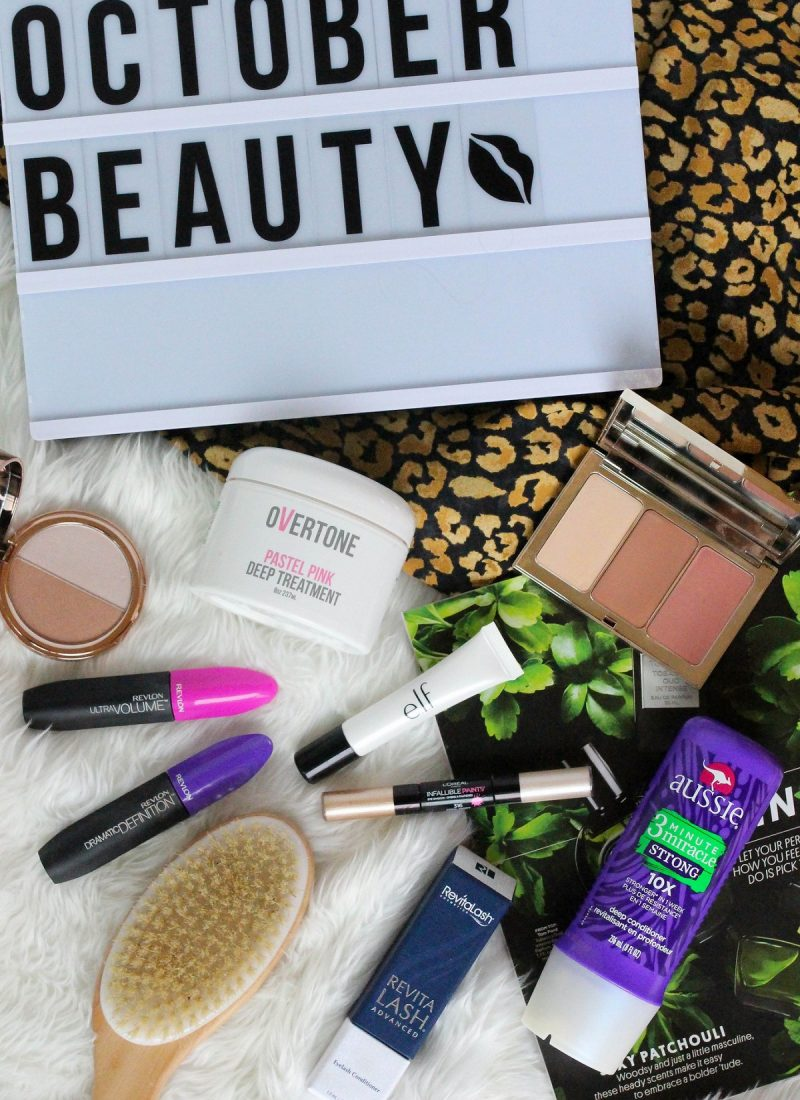 My Favorite Beauty Products from October 2017