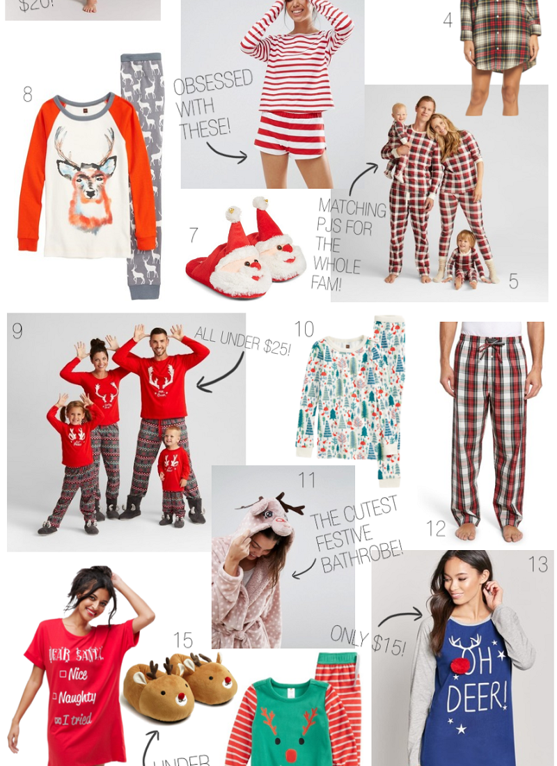 Holiday Gift Guide: Holiday Pajamas for the Whole Family