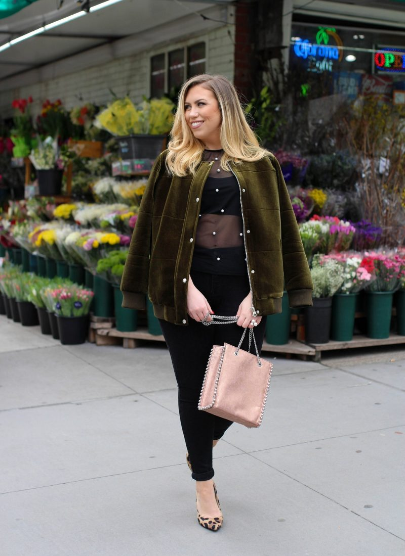 Are Bomber Jackets the New Moto Jackets? Living After Midnite Jackie Giardina Style Blogger