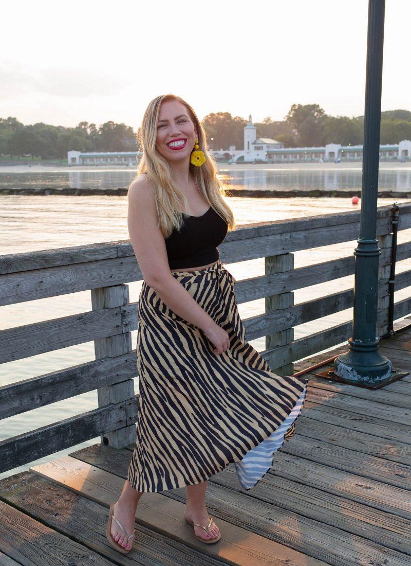 Topshop Zebra Print Pleated Midi Wrap Skirt Playland Boardwalk Animal Attraction: Is Zebra the New Leopard?