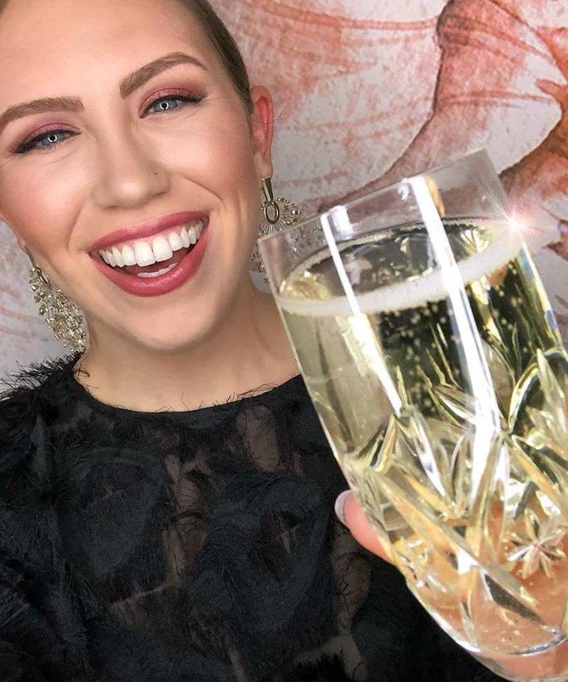 January 2019 Round Up Champagne Toast Monochromatic Pink Makeup