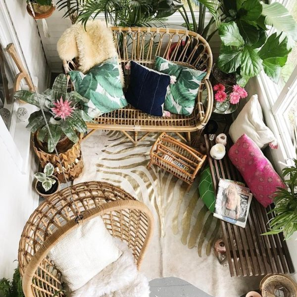 The Best Decorated Small Outdoor Balconies on Pinterest | Boho Apartment Patio Inspiration | Wicker Outdoor Furniture | Balcony Plants | Small Patio Decor Ideas