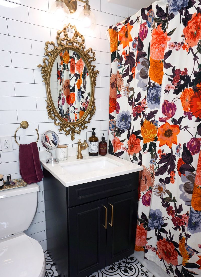 Before & After: My Tiny Black and White Bathroom Renovation