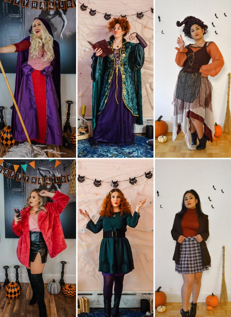 Hocus Pocus Halloween Costume | Sanderson Sisters Costumes | Sarah, Winifred & Mary Sanderson | Sanderson Witches | Girl Group Halloween Costume | Halloween Costumes College | 2020 Halloween DIY