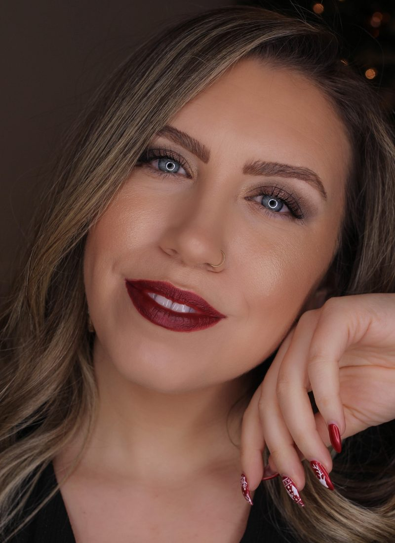 Holiday Makeup Monday Tutorial: Subtle Bronze Sparkle Eyes | New Years Eve Makeup | Deep Red Lipstick | Christmas Makeup Looks