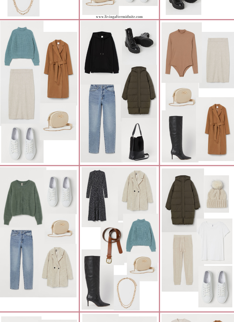 Affordable H&M Winter Capsule Wardrobe | 26 Pieces, 48+ Outfits