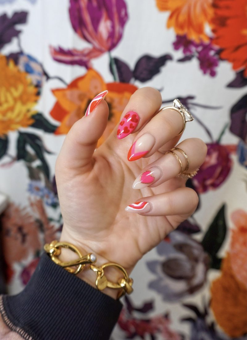 Manicure of the Month: Red & Pink Valentine's Day Nails