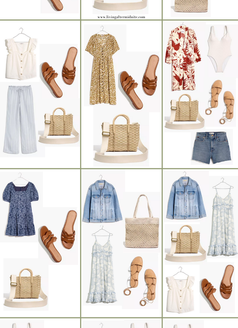 Madewell Summer Vacation Capsule Wardrobe | 15 Pieces, 36+ Outfits