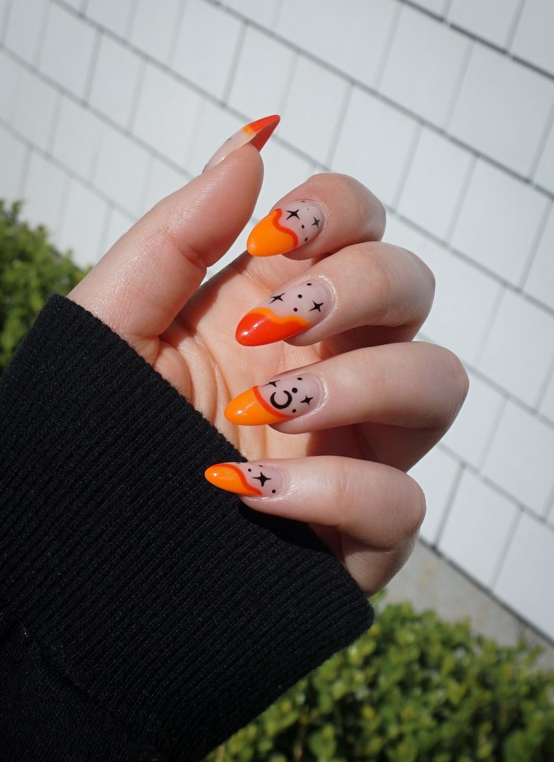 Manicure of the Month: Neon Orange Halloween Nails